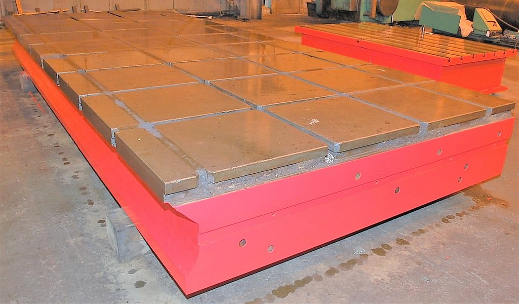 (2)-90-x-215-x-19-T-Slotted-Cast-Iron-Floor-Plates
