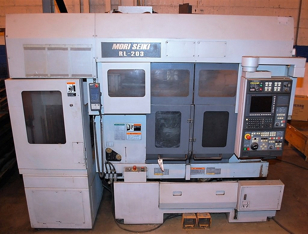 Mori-Seiki-RL-203-Dual-Spindle-CNC-Turning-Center-W-Gantry-Robot-&-Stocker