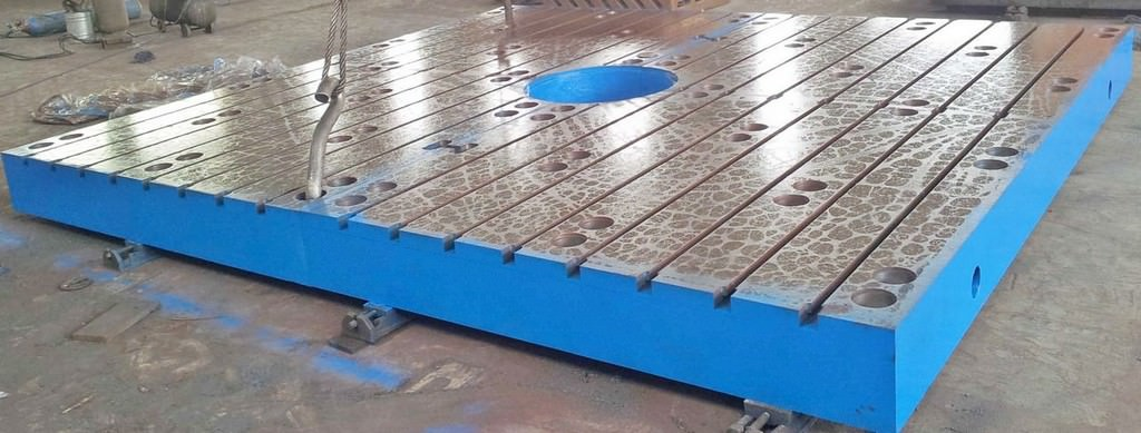 (2)-86-x-157-x-11-T-Slotted-Floor-Plates-Brand-New