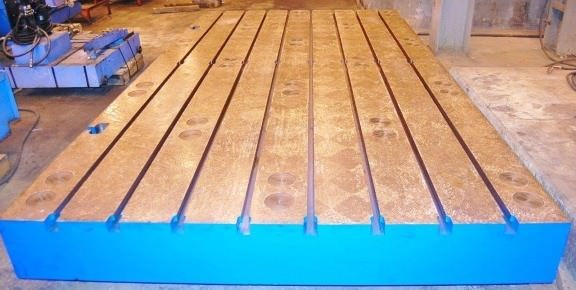 (1)-86-x-157-x-11-T-Slotted-Floor-Plate-Brand-New