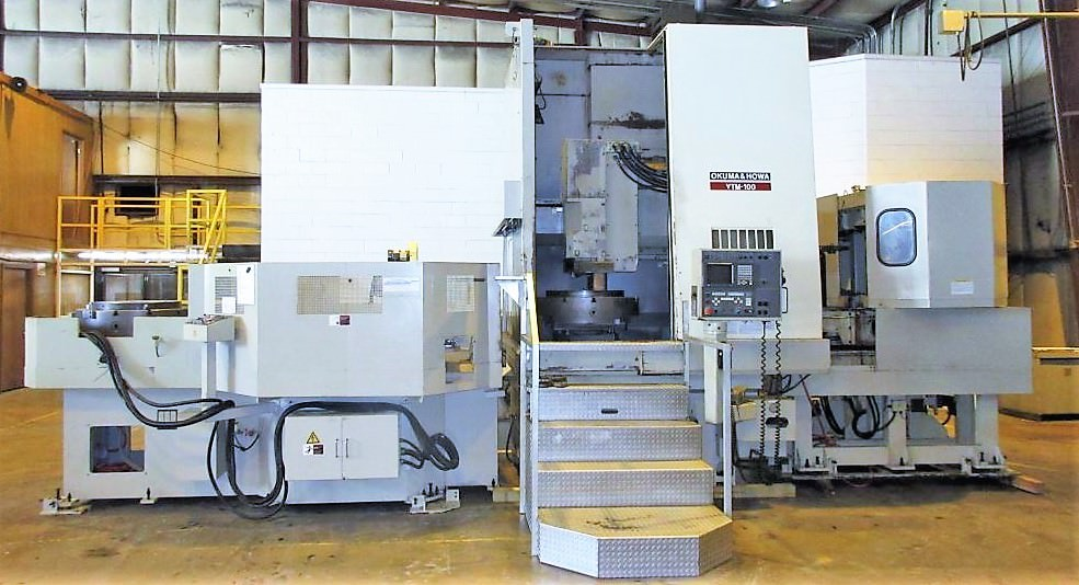 Okuma-&-Howa-VTM-100-CNC-Vertical-Turning-Center-With-Live-Milling