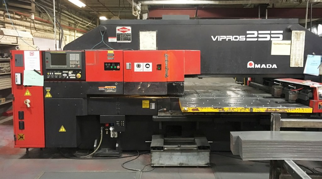 AMADA-Vipros-255-22-Ton-Hydraulic-CNC-Turret-Punch-Press