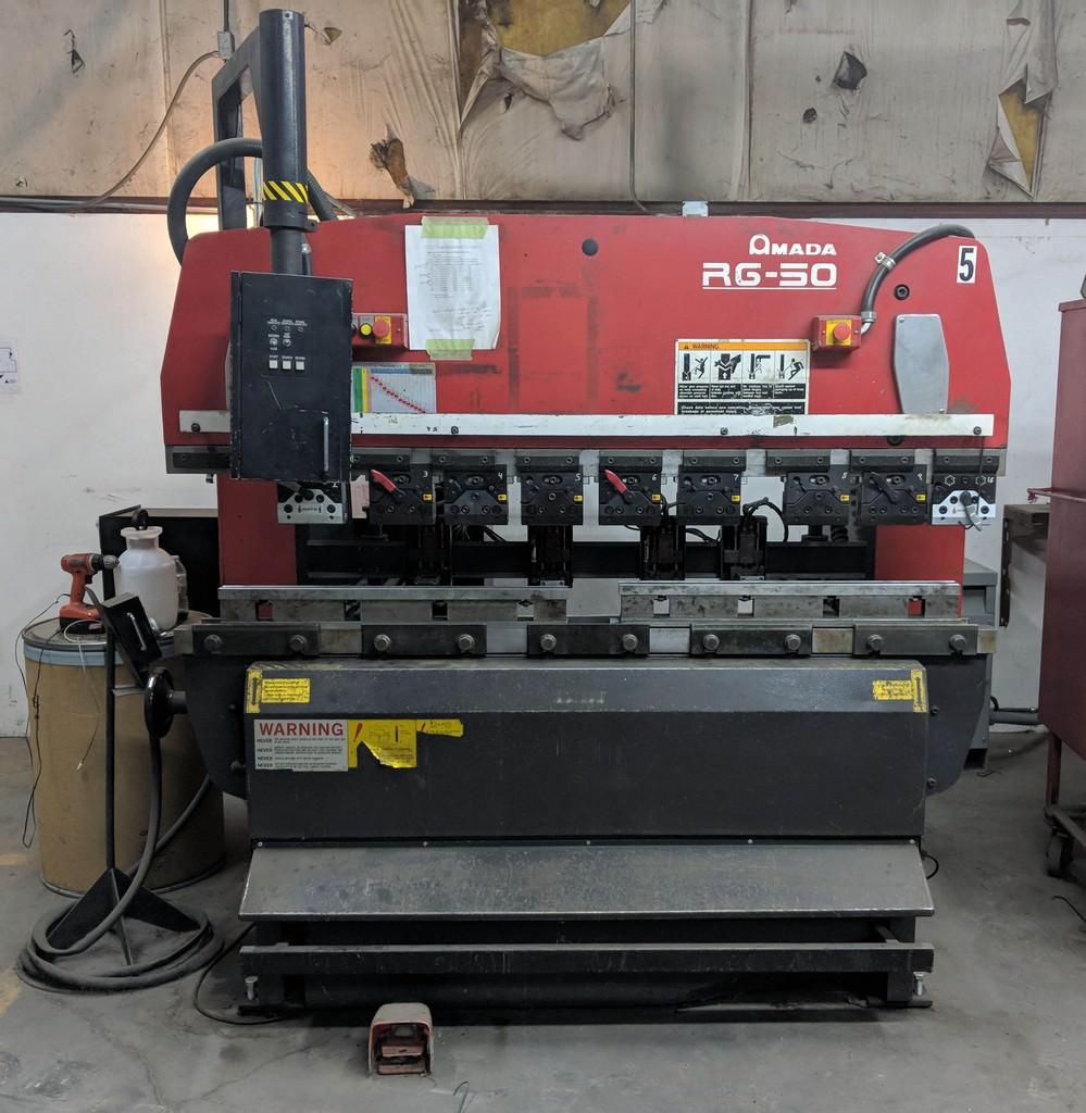 AMADA-RG50-3-Axis-CNC-Up-Acting-Hydraulic-Press-Brake