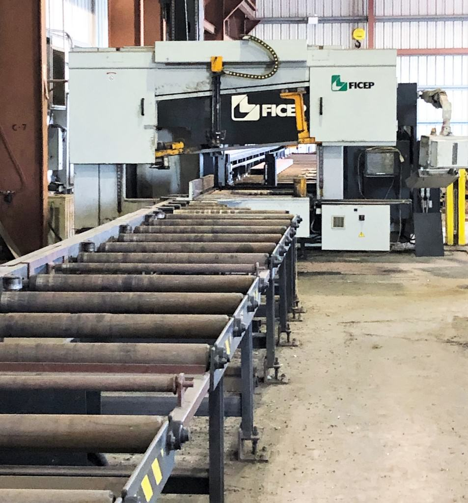 FICEP-1001-DZB-CNC-Single-Spindle-Drill-&-Saw-Line