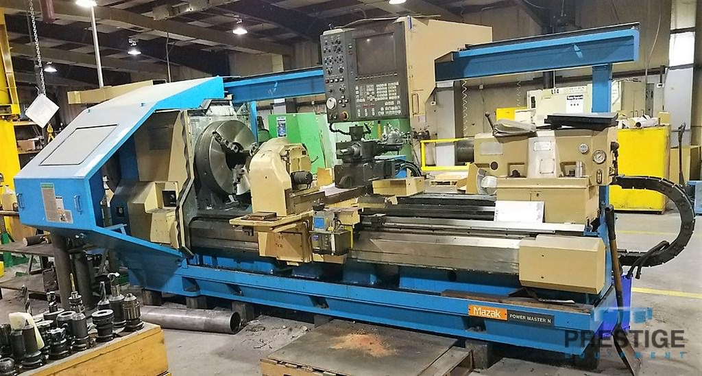 Mazak-Powermaster-2000U-34-x-78-Big-Bore-CNC-Lathe